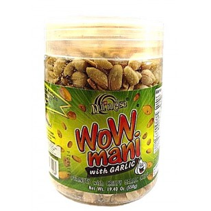 Wow Mani Peanuts w/ Garlic Chips Jar Big