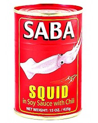 Saba Squid in Soy Sauce with Chili (Big) (48 Pack)