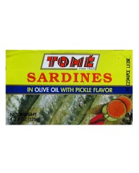 Tome Sardines in Olive Oil w/Pickle Flavor