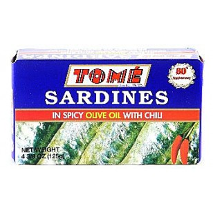 Tome Sardines in Spicy Olive Oil w/ Chili