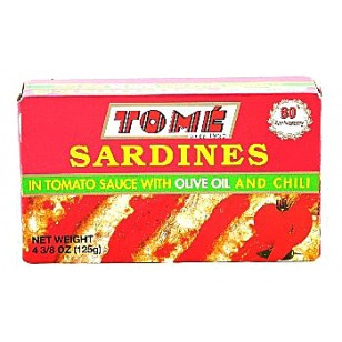 Tome Sardines in Tomato Sauce w/ Olive Oil and Chili