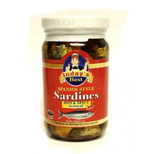 Inday's Best Spanish Style Sardines in Corn Oil Hot & Spicy