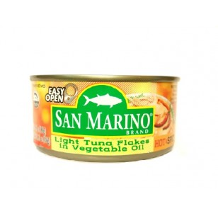 San Marino Light Tuna Flakes in Hot & Spicy