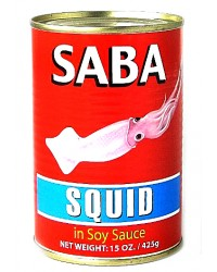 Saba Squid Big in Soy Sauce