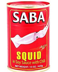 Saba Squid big in Soy Sauce w/ Chili